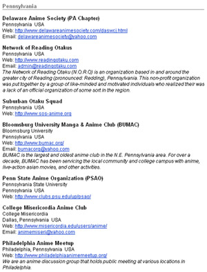 Otakon Website Community Clubs